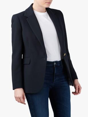 Helene For Denim Wardrobe Carinne Crepe Blazer, Navy