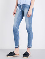 Paige Hoxton released-hem skinny ankle-peg high-rise jeans