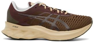 AFFIX Khaki and Burgundy Asics Edition Novablast Sneakers