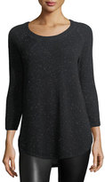 ATM Anthony Thomas Melillo Donegal Round-Neck Speckled Cashmere Sweater