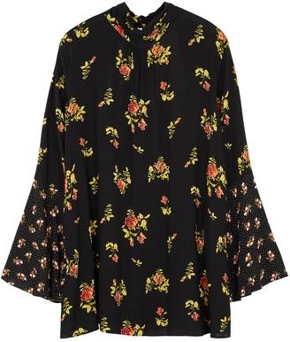 Free People Tate black floral-print tunic