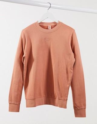 Reebok logo washed sweatshirt in rust