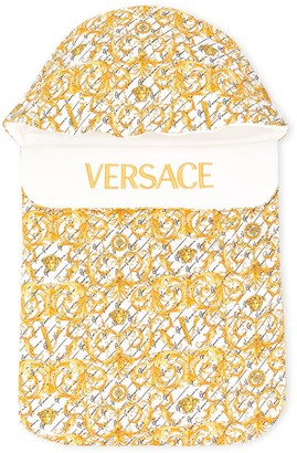 Versace Logo Baroque Print Sleeping Bag