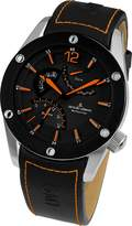 Jacques Lemans Men's Liverpool 46mm Black Rubber Band Quartz Watch 1-1739d