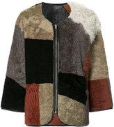 YMC patchwork fur jacket - women - Sheep Skin/Shearling - S