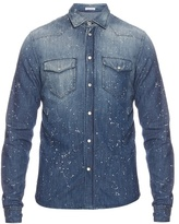 Tomas Maier Paint-splash denim shirt