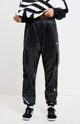 adidas Shiny Black Windbreaker Pants
