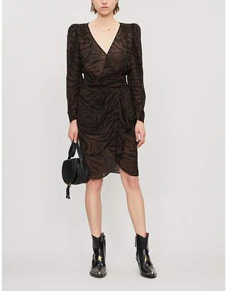 BA&SH Saphir animal-print chiffon midi dress