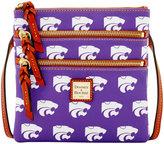 Dooney & Bourke Kansas State Wildcats Triple-Zip Crossbody Bag