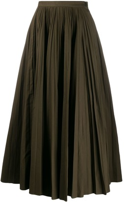 Katharine Hamnett Ray pleated long skirt