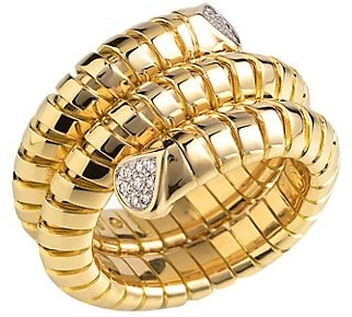 MARINA B Trisola 18K Yellow Gold Diamond Ring