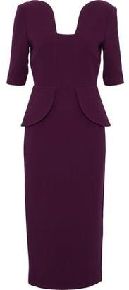 Roland Mouret Draped Wool-crepe Peplum Dress