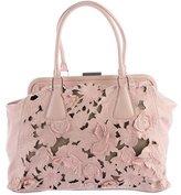 Valentino Lace & Leather Shoulder Bag