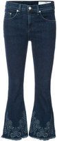 Rag & Bone Jean - cropped flared jeans - women - Cotton/Polyurethane - 24