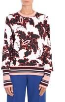MSGM Flower Print Sweatshirt