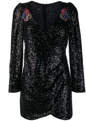 Pinko sequinned wrap style dress