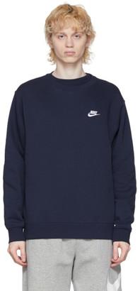 Nike Navy Sportswear Club Sweatshirt