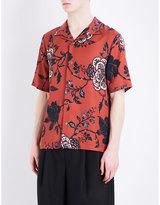 Mcq Alexander Mcqueen Regular-fit Floral-print Twill Shirt