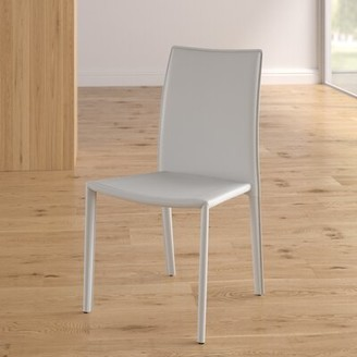Wade Logan Meade Upholstered Dining Chair (Set of 4 Color: White
