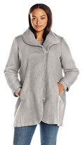 Jessica Simpson Women's Plus Size Wool Zip up Coat