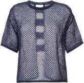 Coohem summer mesh knitted top - women - Cotton/Linen/Flax/Nylon/Polyester - 36
