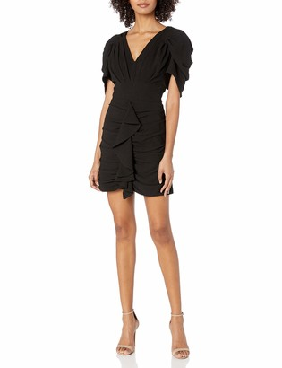 C/Meo Women's Soaked Pleated Ruffle Mini Dress