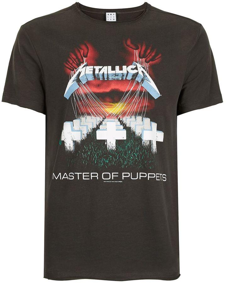Amplified Washed Grey Metallica T-Shirt*