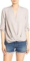 Lush Women's Twist Front Woven Shirt