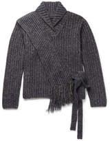 Craig Green Mélange Ribbed-knit Sweater - Blue