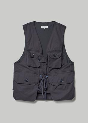 Engineered Garments Women's Game Vest Jacket in Dark Navy High Count Twill Size XXS