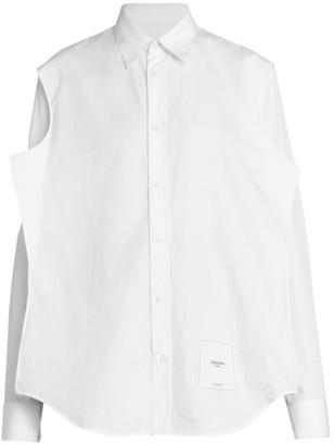 Maison Margiela Organic Cotton Poplin Button Down Flatpack Shirt