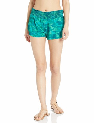 Coco Rave Women's Swimsuit Cover Up Short with Smocking Waist Detail