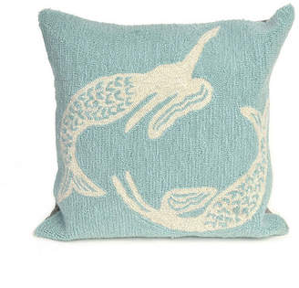 "Liora Manné Frontporch Mermaids Indoor, Outdoor Pillow - 18"" Square"