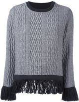Christian Pellizzari cable knit fringed jumper