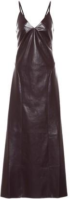 Nanushka Anira faux leather midi dress