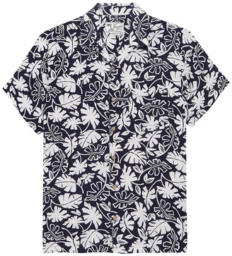 Trunks Surf And Swim Co. Waikiki Tropical Leaf Print Shirt