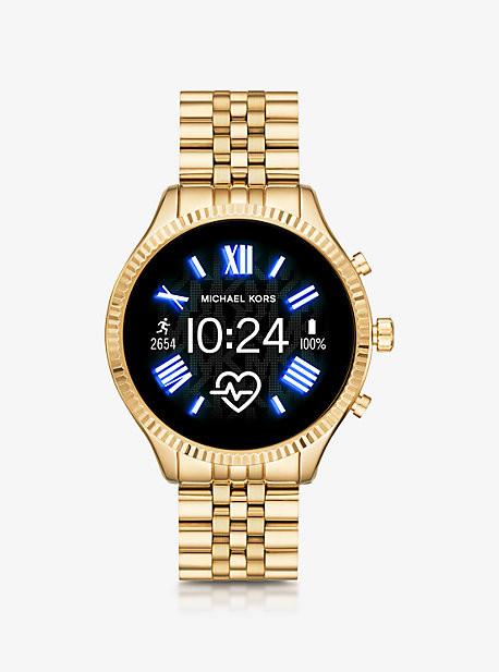 Michael Kors Gen 5 Lexington Gold-Tone Smartwatch - Gold