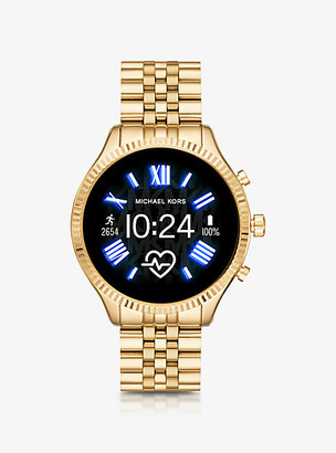 Michael Kors Gen 5 Lexington Gold-Tone Smartwatch - Gold
