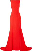 Oscar de la Renta Crepe Gown - Tomato red