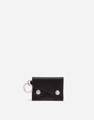 Dolce & Gabbana Biker Credit Card Holder In Cowhide