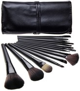 Bliss & Grace 15-Piece Professional Makeup Brush Set with Handy Vegan Leather Travel Case - Black