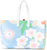 Thom Browne floral printed shopping bag - women - Calf Leather - One Size