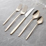 Crate & Barrel Harper Rose Gold 5-Piece Flatware Place Setting