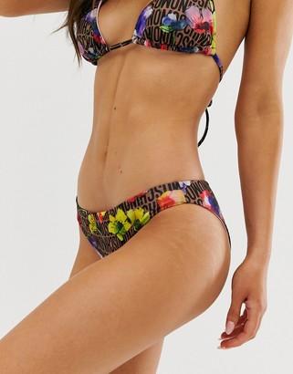 Moschino logo print bikini briefs