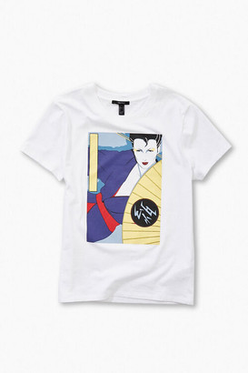 Forever 21 Patrick Nagel Fan Graphic Tee