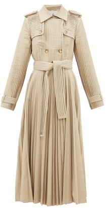 Gabriela Hearst Stein Pleated Cotton-gabardine Trench Coat - Beige