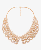 Forever 21 Pearlescent-Beaded Collar