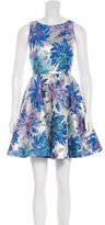 Alice + Olivia Brocade Floral Dress