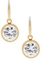 Michael Kors Crystal Bezel Drop Earrings