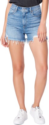 Paige Dani High Waist Distressed Denim Shorts